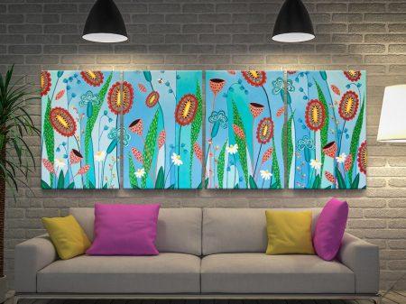 Blooming Abundance 4-Panel Floral Art