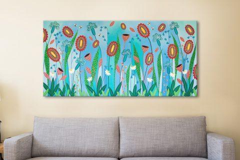 Blooming Abundance Panoramic Floral Art