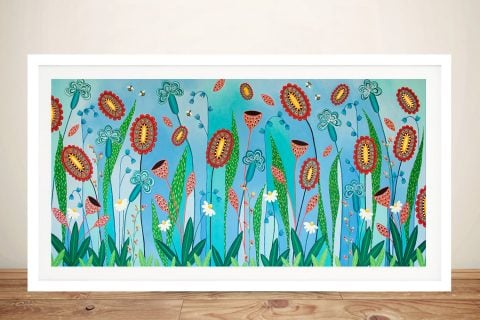 Blooming Abundance Abstract Floral Artwork