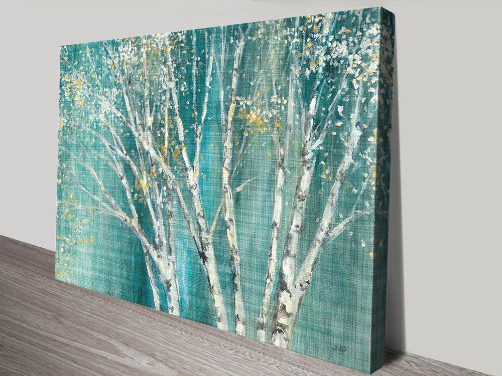 Blue Birch Wall Art Unique Gift Ideas AU