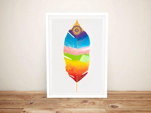 Chakra Feather Framed Lisa Frances Judd Art