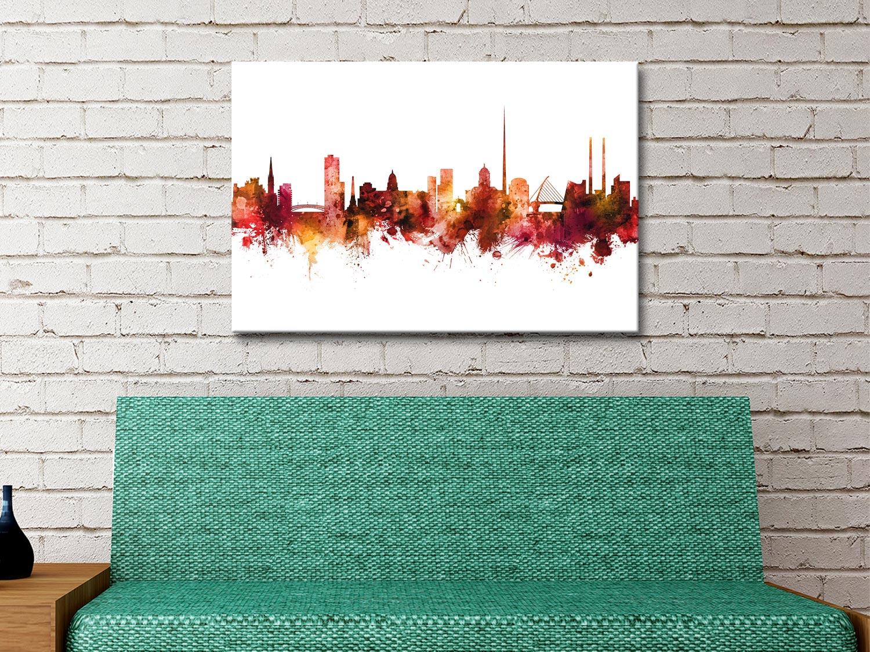Ready to Hang Dublin Skyline Art for Sale