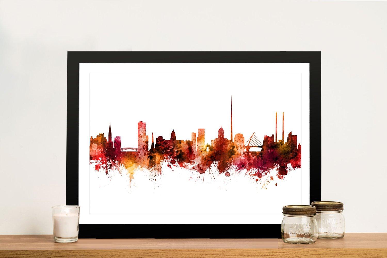 Framed Michael Tompsett Skyline Art AU