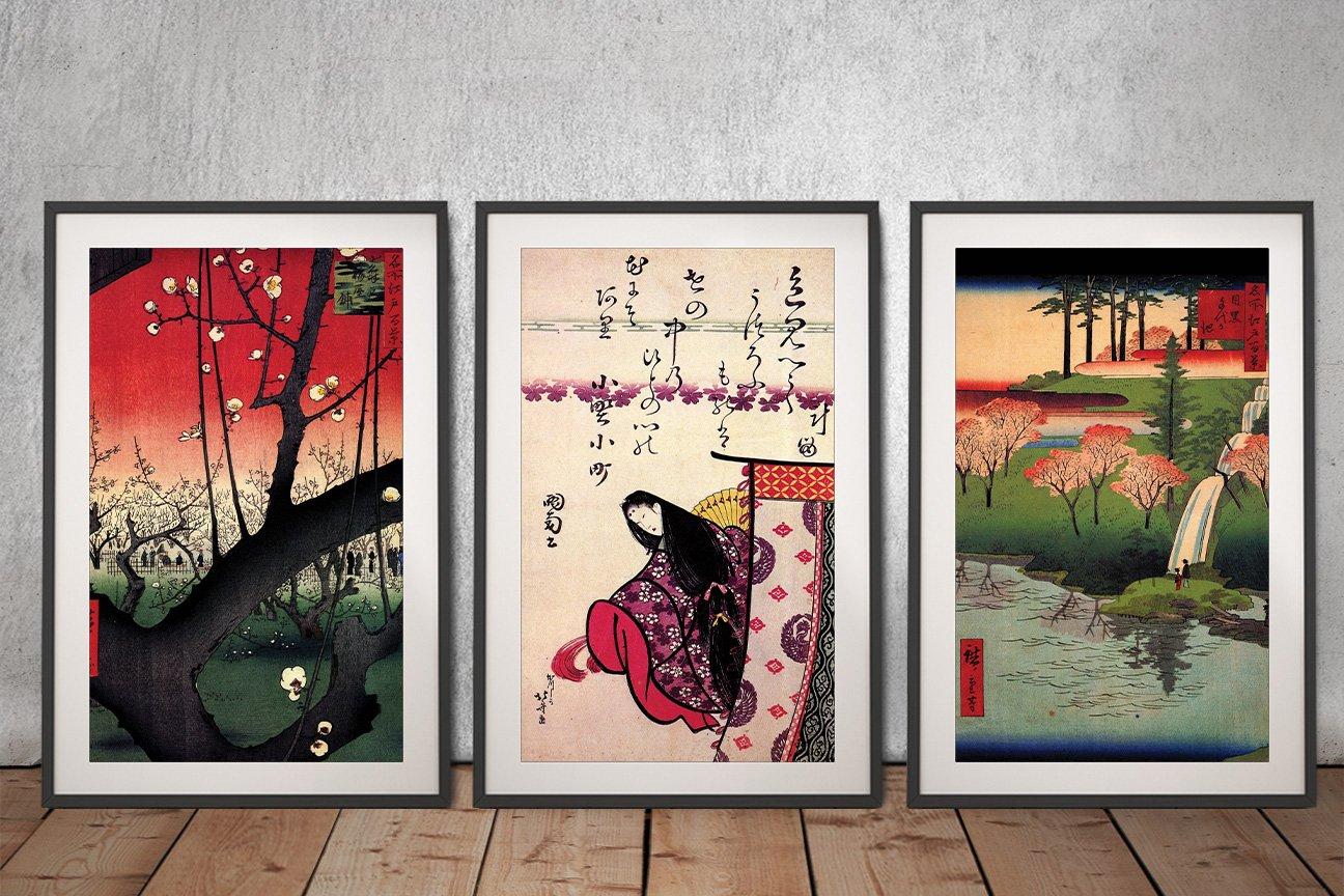 Japanese 3-Panel Canvas Art Great Gift Ideas AU