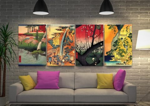 Japanese Classic Art 4-Panel Canvas Set