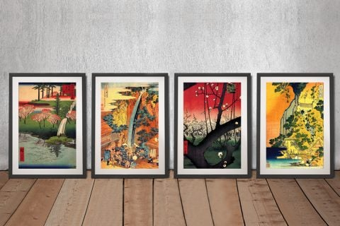Framed Japanese Canvas Art Home Decor Ideas