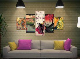 Buy Japanese 5-Piece Canvas Art Sets