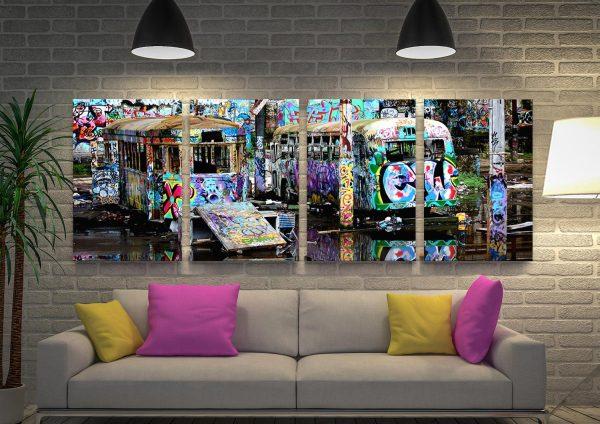 Magic Bus Tram Graffiti Art Multi-Panel Set