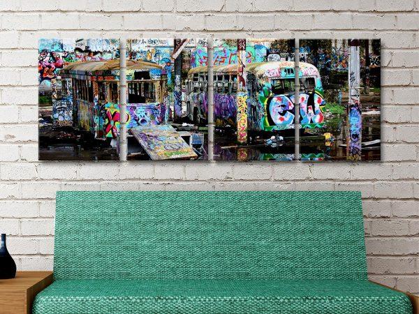 Steve McLaren Ready to Hang Tram Graffiti Art