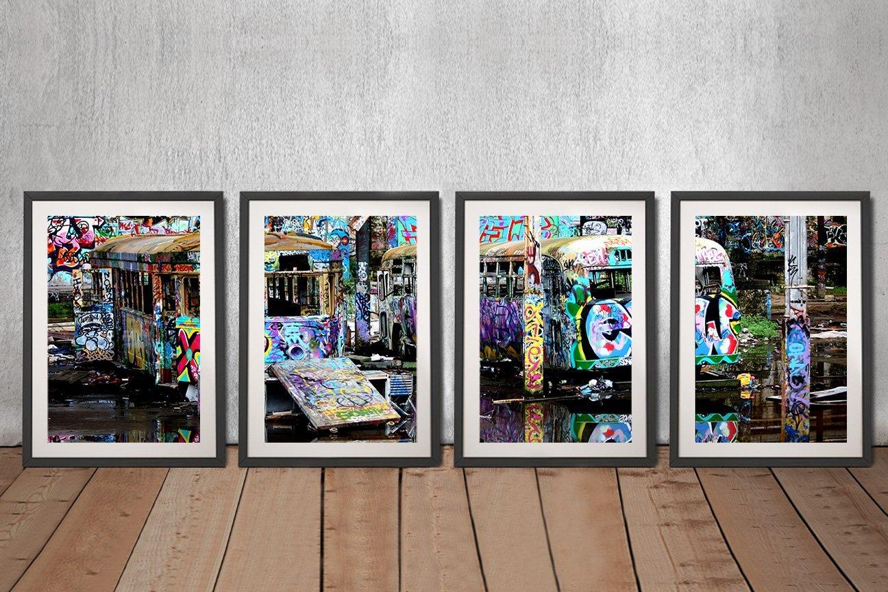 Buy Magic Bus 4-Piece Canvas Wall Art Set