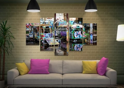 Ready to Hang Multi-Panel Street Art Prints