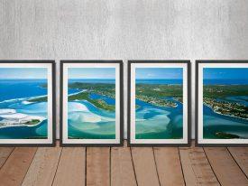 Noosa Framed Split Panel Peter Lik Print Set
