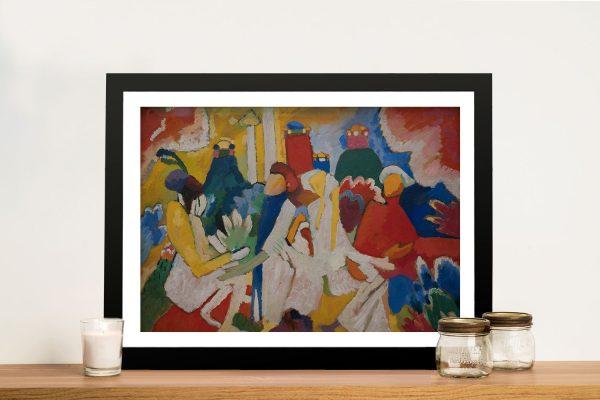 Framed Kandinsky Oriental Print for Sale AUFramed Kandinsky Oriental Print for Sale AU