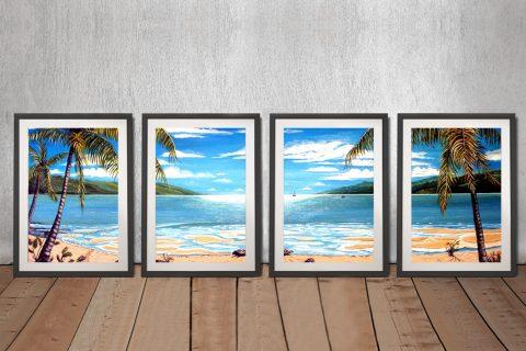 Linda Callaghan 4-Panel Canvas Art for Sale