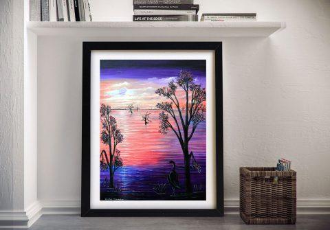 Purple Moon Linda Callaghan Wall Art