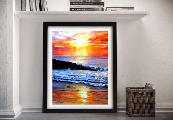 Framed Sunset Wall Art Unique Home Decor AU