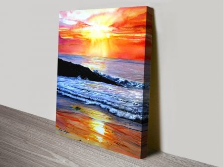 Sunset Print on Canvas by Linda Callaghan
