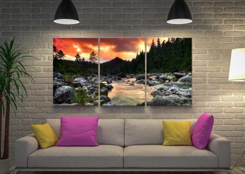 The Peaceful Woods Landscape Triptych Art