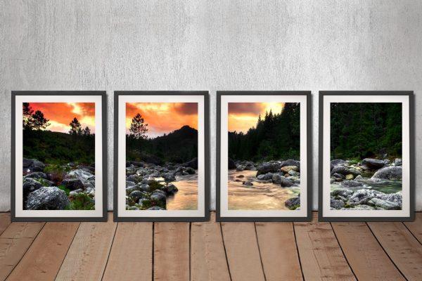 Buy The Peaceful Woods Split Panel Canvas Art