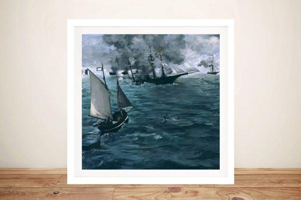 The Battle of Kearsarge Manet Classic Art