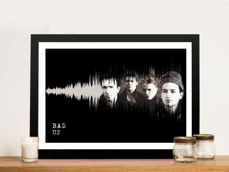 U2 Bad Soundwaves Canvas Artwork