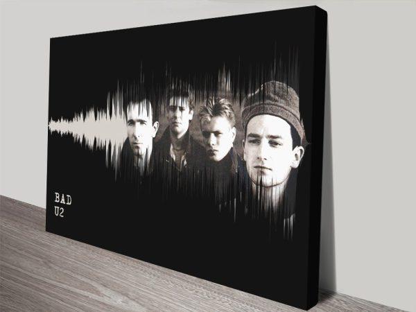 Iconic Bands Soundwaves Wall Art AU