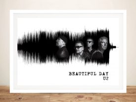 Framed U2 Soundwaves Art Unique Gifts for Sale