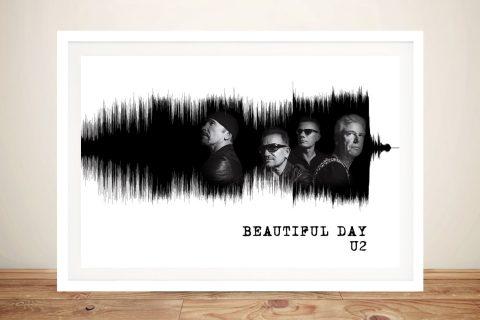 Framed U2 Soundwaves Art Unique Gifts for Sale