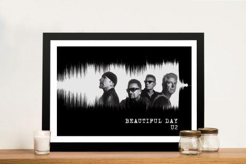 Beautiful Day by U2 Soundwave Wall Art