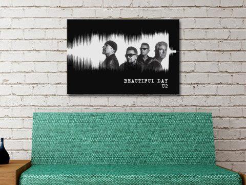 U2 Beautiful Day Wall Art Great Gift Ideas Online