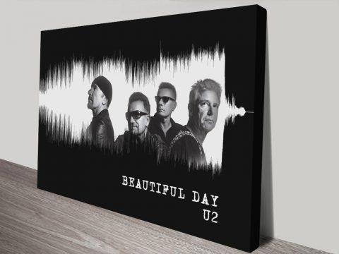 Ready to Hang U2 Soundwave Art for Sale