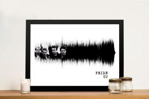 U2 Pride Soundwave Print on Canvas