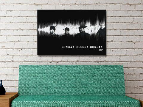 Sunday Bloody Sunday Soundwave Art for Sale