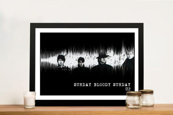 U2 Sunday Bloody Sunday Soundwave Art
