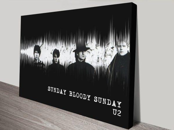Ready to Hang U2 Soundwaves Wall Art