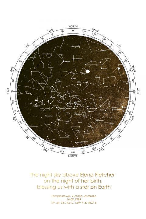 Custom Star Map Canvas Prints