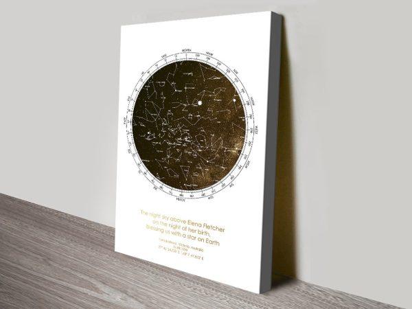 Buy Custom Star Map Canvas Prints Online