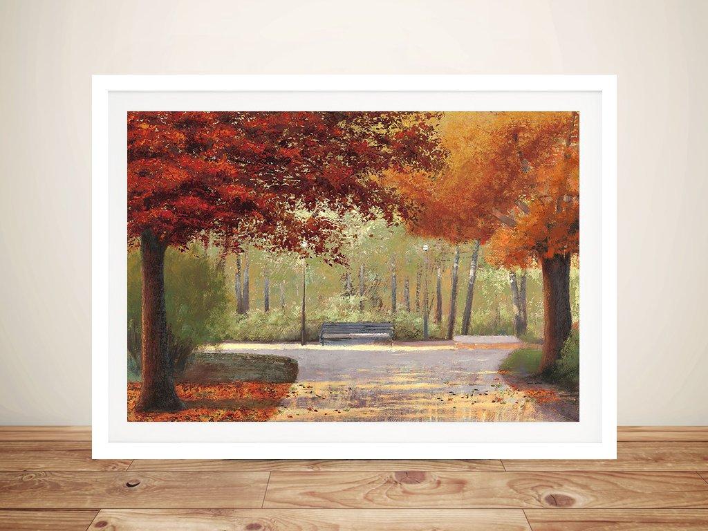 Autumn Stroll Framed Art by James Wiens