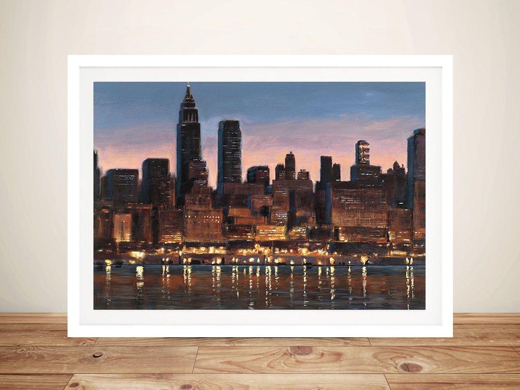 Manhattan Reflection James Wiens Wall Art