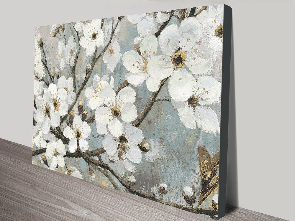 Cherry Blossoms Elegant Floral Canvas Print