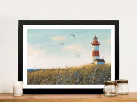 Seaside View James Wiens Print on Canvas