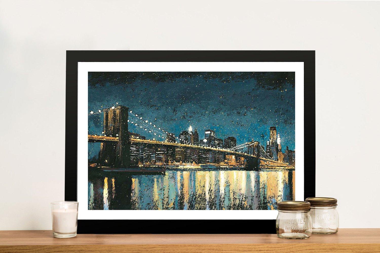 Bright City Lights Cityscape Art for Sale
