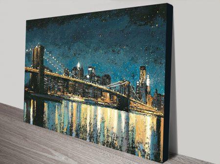 Buy Bright City Lights Canvas Artwork