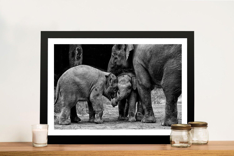 Friends Forever Cute Elephants Art for Sale