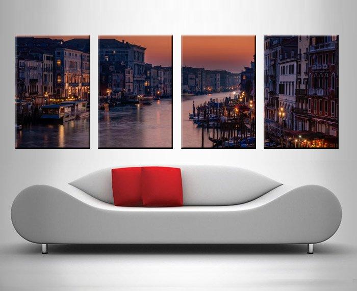 World Cities Split Panel Art Home Decor AU
