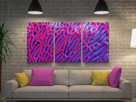 Abstract Coral Colourful Home Decor Ideas AU