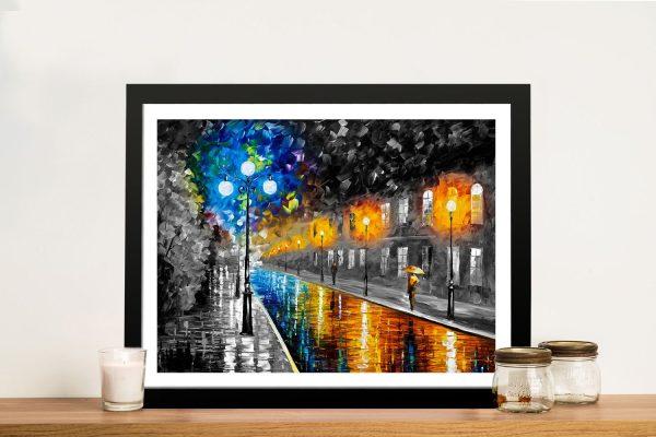 Blue Lights colour splash Wall art