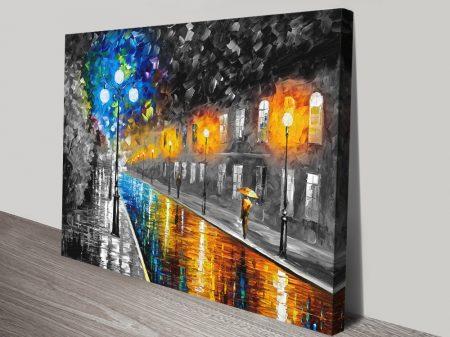 Blue Lights Colour Splash Modern Wall Art