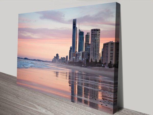 Backlit Beach Queensland Canvas Print