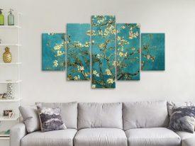 Blossoming Almond Tree Split Diamond Wall Art